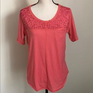 Lululemon Red Short Sleeve With Pocket Size 12